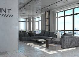 industrial loft apartment design ideas with elegant dark shades