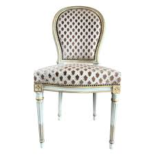 set of six louis xvi style dining chairs on the highboy