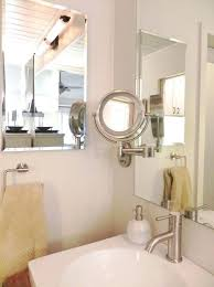 Wall Mounted Bathroom Mirrors Attractive Magnifying Bathroom Mirror Wall Mounted Intended For