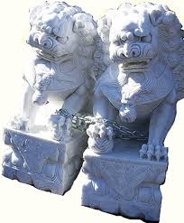 marble foo dogs asian garden foo dogs carved marble for garden