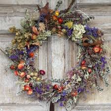 flower wreath country dried flower wreath