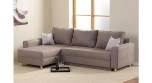sofa mit bettkasten und schlaffunktion ecksofa bezogen mit einem velours ähnlichen stoff in grau