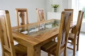 white oak dining table and chairs stylish white real leather and
