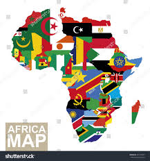 Africa Map Countries by Africa Map Vector Map Africa Flags Stock Vector 405175837