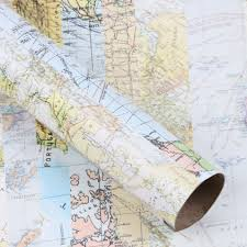 map wrapping paper roll 3m roll wrapping paper