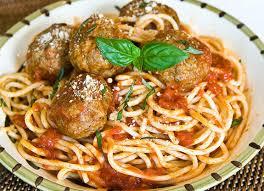 spaghetti meatballs chef