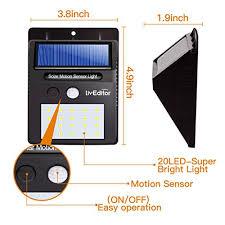 driveway motion sensor light liveditor lighting 320 w 4 20 led solar motion sensor light