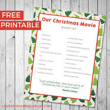 christmas movie bucket list love and marriage