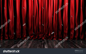 red velvet stage curtains stage floor stock illustration 29053033