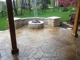Patio Flagstone Designs Flagstone Patio On Concrete Home Design Ideas And Pictures
