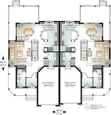 multi level floor plans multi family plan w3001 detail from drummondhouseplans