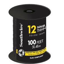 Southwire In Wall Digital 7 by Southwire 100 Ft 12 Black Solid Cu Thhn Wire 11587338 The Home