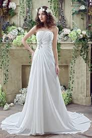 aline wedding dresses shop discount new arrival strapless white beading a line sweep
