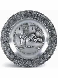 pewter birth plates personalized germany pewter wedding plate german toasting glasses