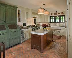 antique green cabinets houzz
