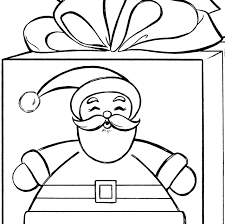santa gift coloring page cute the graphics fairy