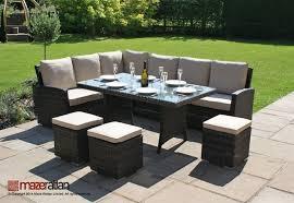 Conservatory  Seat Rattan Corner Sofa Dining Table Garden - Rattan furniture set