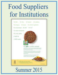 food suppliers for institutions by federal buyers guide inc issuu