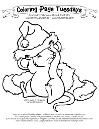 dulemba coloring page tuesday christmas mouse