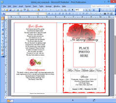 Templates For Funeral Program Funeral Program Template Microsoft Publisher Memorial Ms Publisher