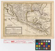 Map Of California And Mexico by A Map Of Mexico Or New Spain Florida Now Called Louisiana And