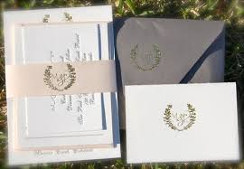 Gold Foil Wedding Invitations Gold Foil Wedding Invitation Featuring Letterpress In Gold And