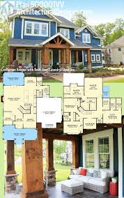 plan 500008vv 4 bed country house plan with l shaped porch