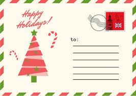 red u0026 green postcard christmas postcard templates by canva