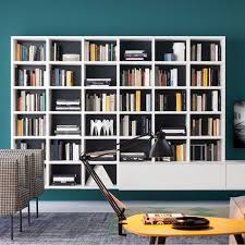 wall mounted bookcase contemporary lacquered wood elm wall