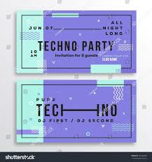 techno halloween background night techno party club invitation card stock vector 436766800