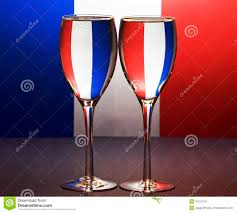 French Flag Background French Flag And Wine Glasses Stock Photo Image 16212112