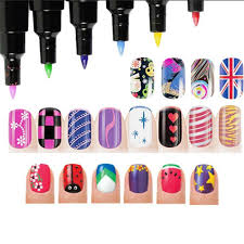 amazon com 16 colors set nail art pen for 3d nail art diy