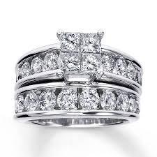 bridal set wedding rings diamond bridal set 3 ct tw 14k white gold