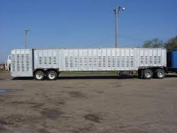 cattle trailer lighted sign used 1973 hobbs ground load livestock trailer truck for sale in