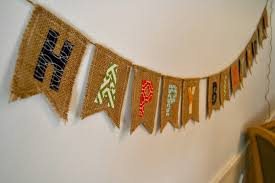 Happy Birthday Flags Elliebellie Handmade Burlap Happy Birthday Banner