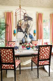 how to add tape trim to curtain panels how to decorate ariel red fabric on louis dining chairs in dining room designed by eddie ross