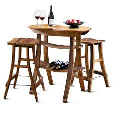 recycled barrel stave table and 2 stools 2957 iwa wine