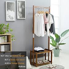 nnewvante coat rack bench shoes rack hallway hall tree organizer 2