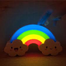 night light sound led rainbow night light sound voice sensor control l for bady