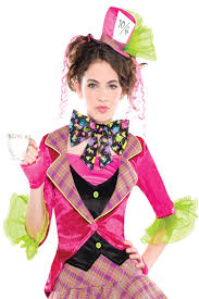 female mad hatter halloween costume girls mad hatter costume u0026 tights new tea party fairy tale fancy
