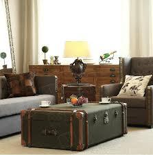 Suitcase Coffee Table European Classics Furniture Aluminum Alloy Cloth Coffee Table