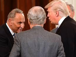 Trump Kumbaya Trump U0027s Cooperation With Democrats Is Throwing Off Political