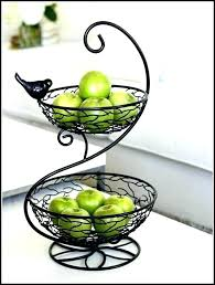 metal fruit basket tier fruit bowl fruit bowl tiered 2 tier metal fruit basket tiered