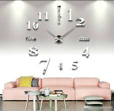 Fashion Bedroom Ingenious Clock For Bedroom Wall Stickers Fashion Creative Acrylic