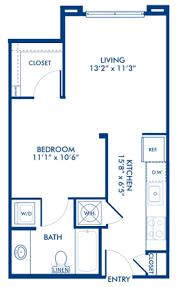 floor plan studio studio 1 u0026 2 bedroom apartments in charlotte nc camden gallery