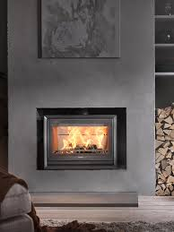 glass door fireplace binhminh decoration