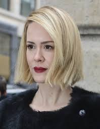 sarah paulson side parted straight cut short hairstyles lookbook