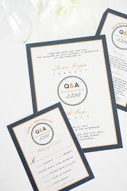 contemporary wedding invitations modern logo circle wedding invitations