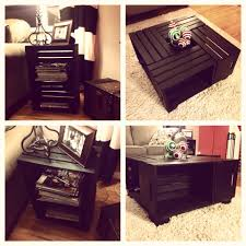 Wine Crate Coffee Table Diy by Wine Crate Coffee Table And End Table Wine Crates From Michaels