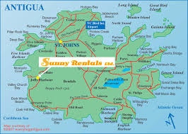 Map Of West Indies Car And Jeep Rentals In Antigua With Sunny Rentals Ltd Our